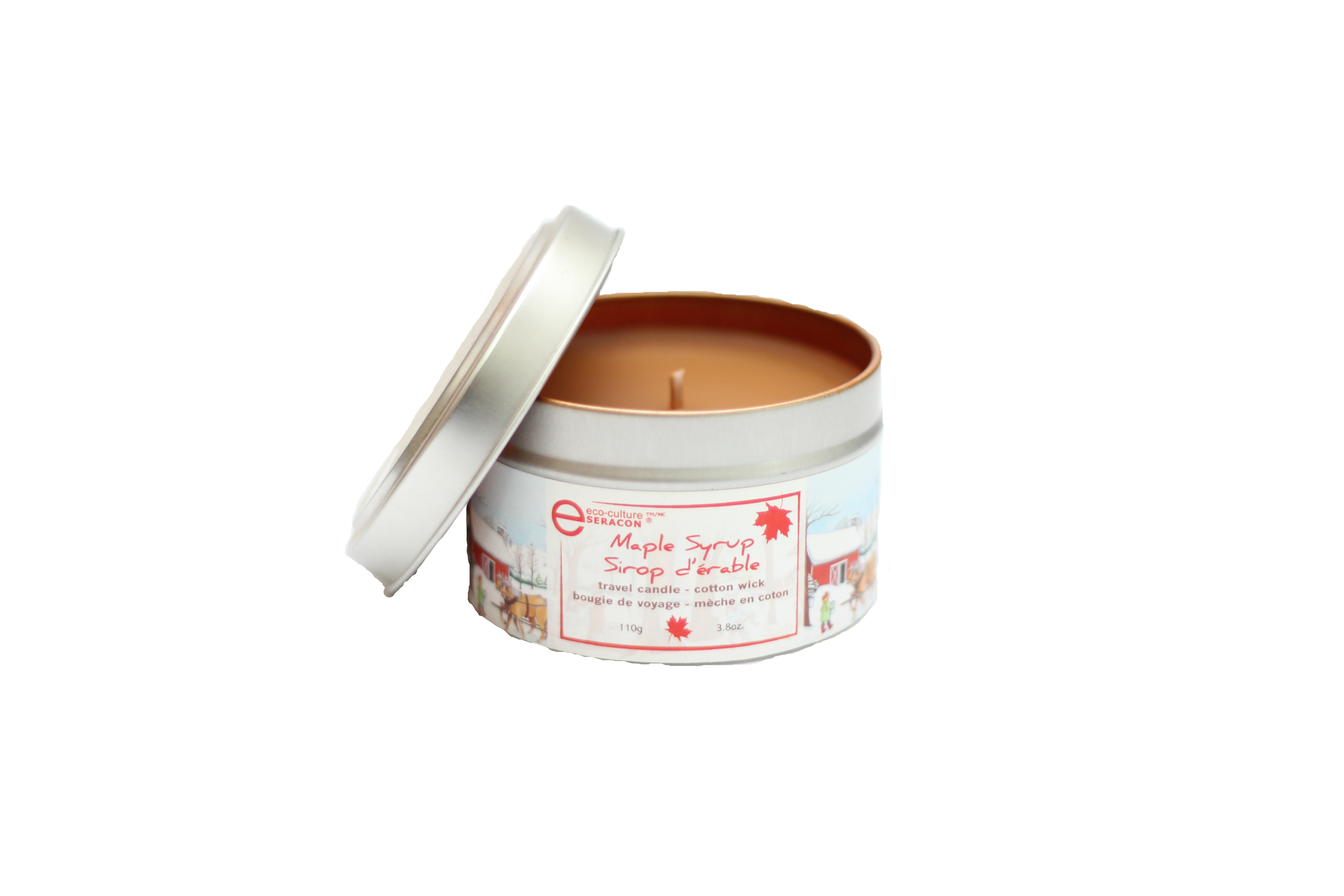 Maple syrup candles - travel tin