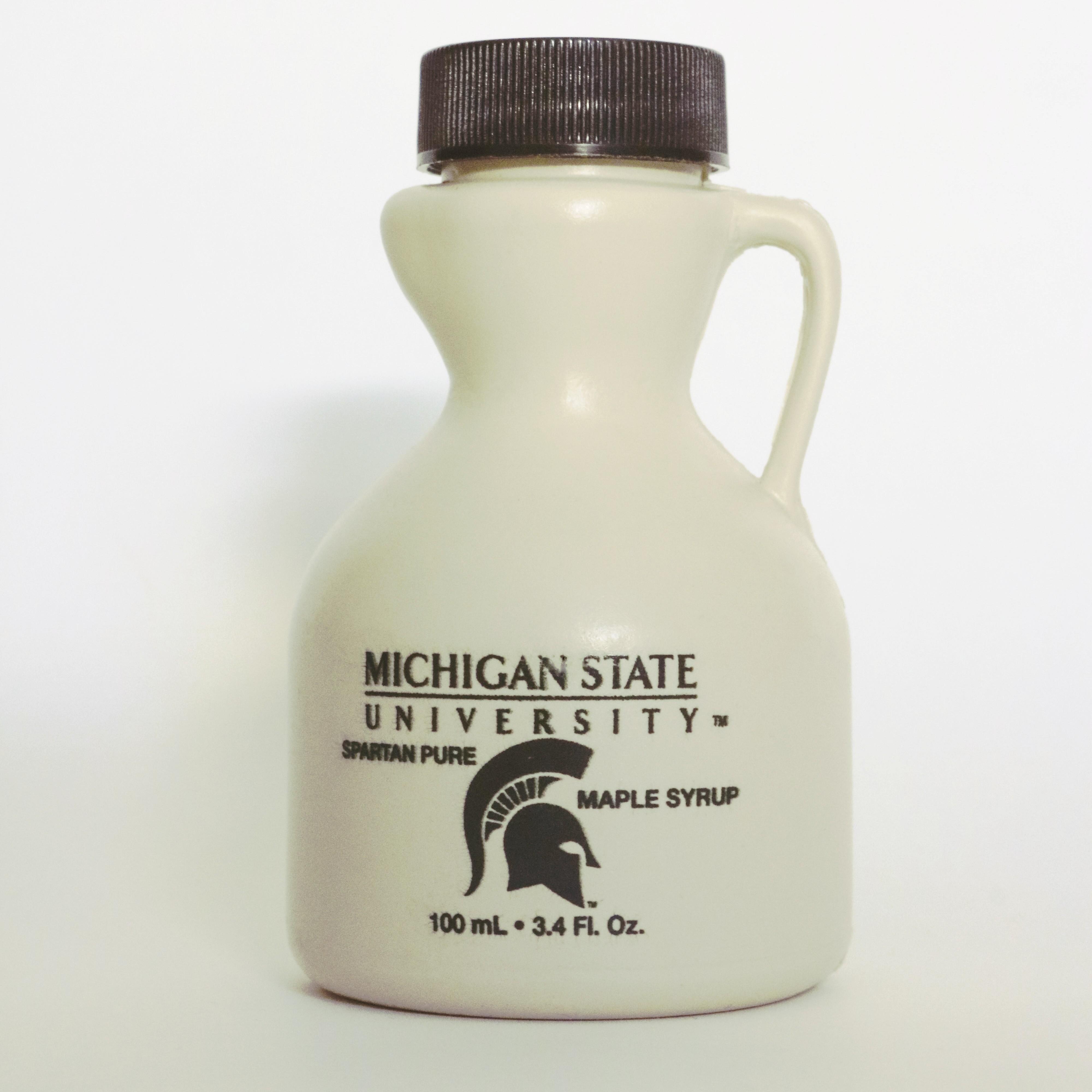 3.4oz MSU maple syrup jug