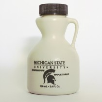 3.4oz MSU maple syrup jug